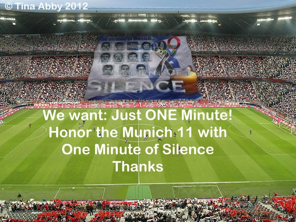 One Minute of Silence for the Munich 11